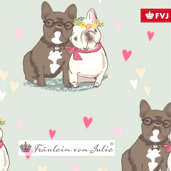 Fräulein von Julie, Bulldogge in Love auf mint, Jersey