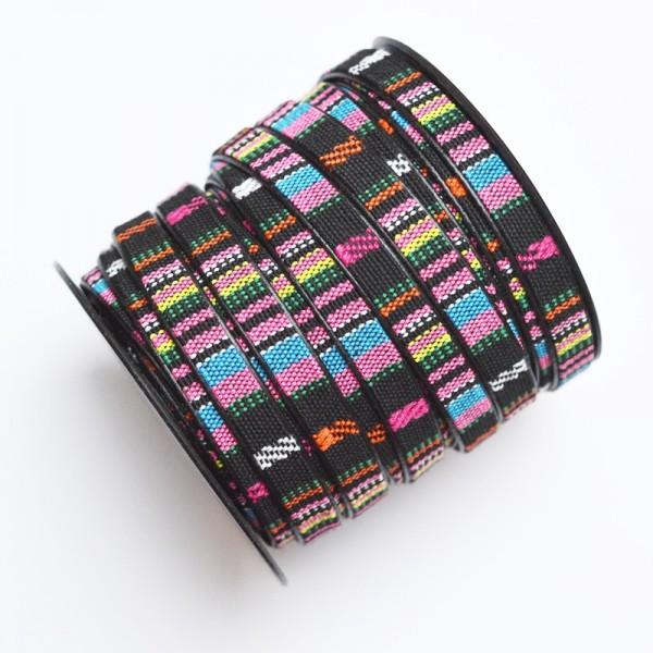 Kunstlederband, 9 mm pink-blau