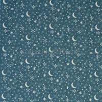 Westfalen Kitzbühel Sterne und Mond dunkelblau, Webstoff