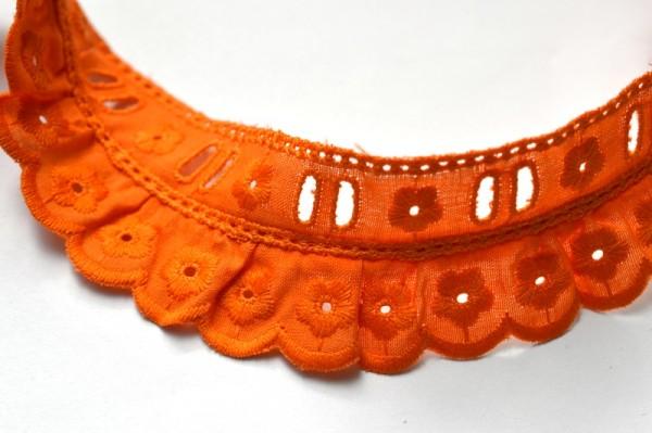 Stoffspitze Melanie, orange, 35 mm *SALE*
