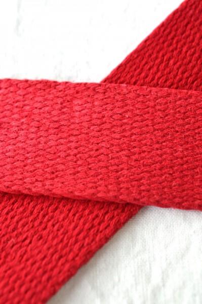 Baumwollgurtband, rot, 2,5 cm