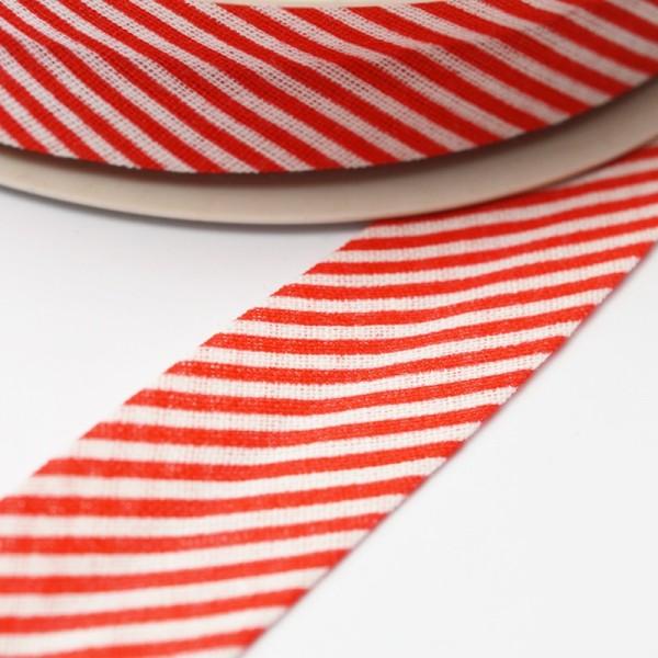 Schrägband, gestreift rot