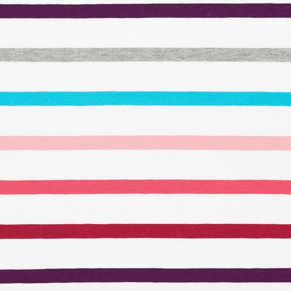 Weekender Multi Stripes pink-türkis, Bio-Jersey
