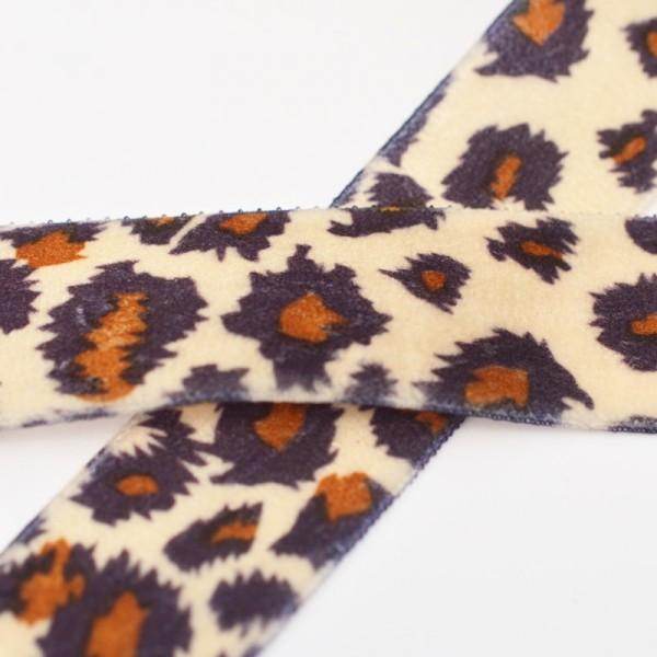 Samtband, Animalprint Leopard