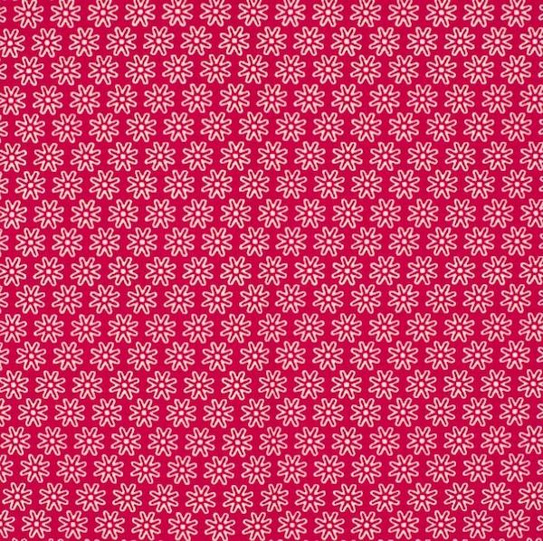 Miri kleine Blüte, pink, Webstoff