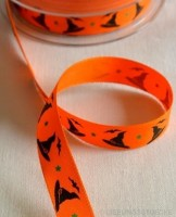 Zauberhut, orange, Stoffband