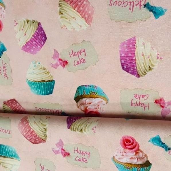 Cupcakes rosa, Dekostoff, *SALE*
