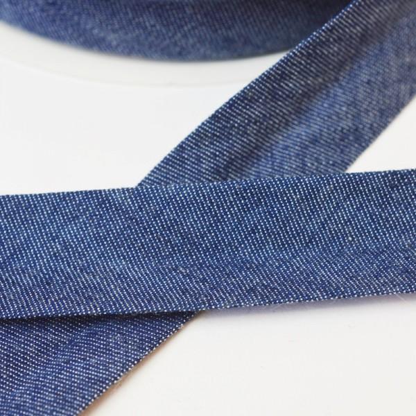 Schrägband, jeansblau dunkel