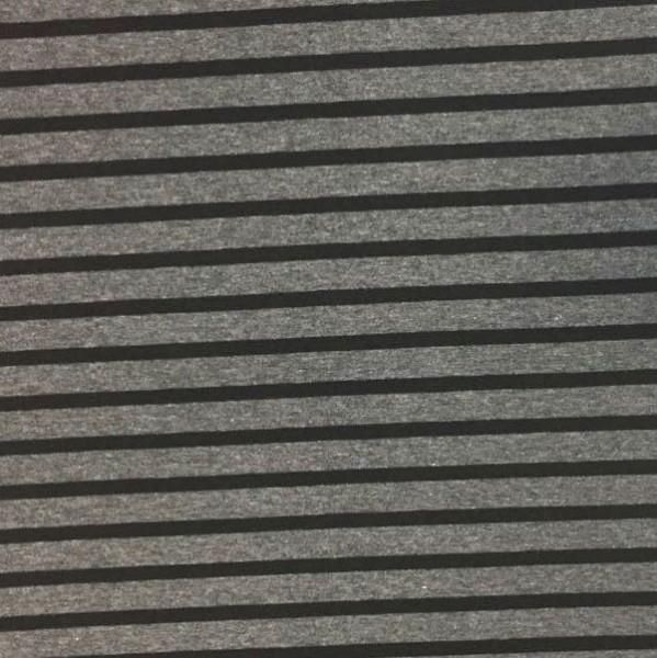 Franzi, Streifen schwarz auf dunkelgrau-meliert, Jersey