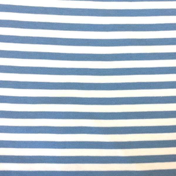 Jamie, Interlock-Jersey helles rauchblau-weiß gestreift, Jersey