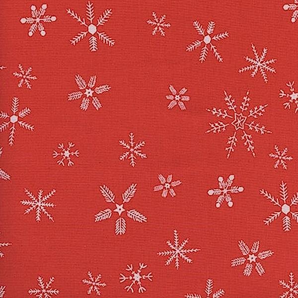 Cotton+Steel, Frost, Sterne rot, Baumwollstoff