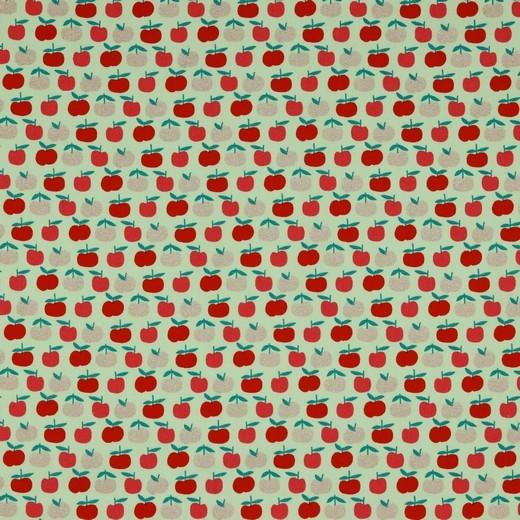 Glitzer-Äpfelchen mit, Baumwolllstoff, waschbar bei 60°