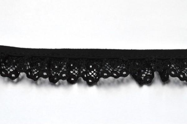 Netzspitze, schwarz, 20 mm