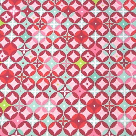 Tante Ema, Tangoblüten pink-grün, Webstoff