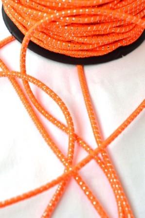 Gummischnur, orange-silber