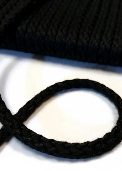 Flechtkordel, 6 mm, schwarz