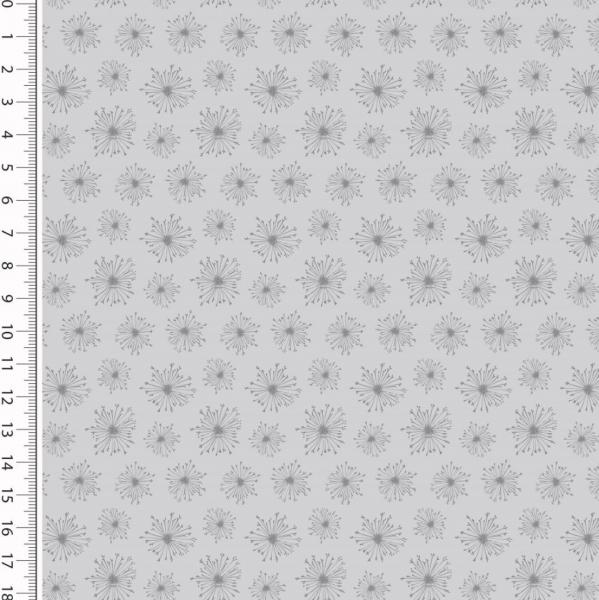 Dandelions grau, Baumwollstoff