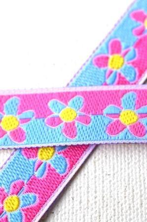 Florecita, blau-pink, Webband