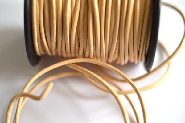 Kunstlederschnur, beige *SALE*