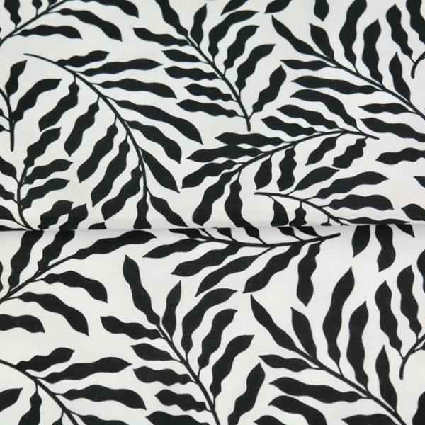 Stenzo Zweige schwarz auf weiß, Popeline