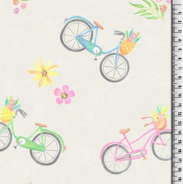 Digitaldruck Aquarell Fahrräder, Jersey