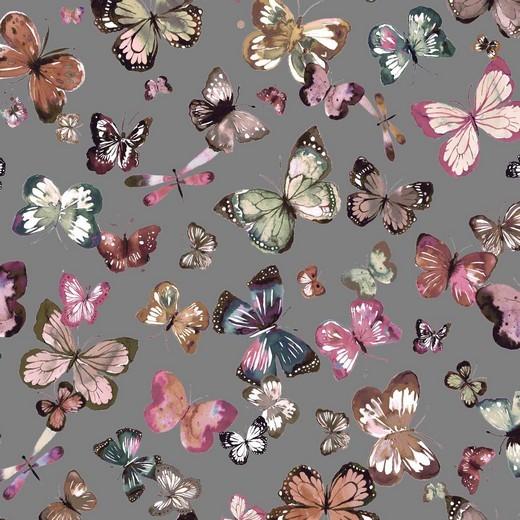Bio-Sweat, Digitaldruck Butterfly grau