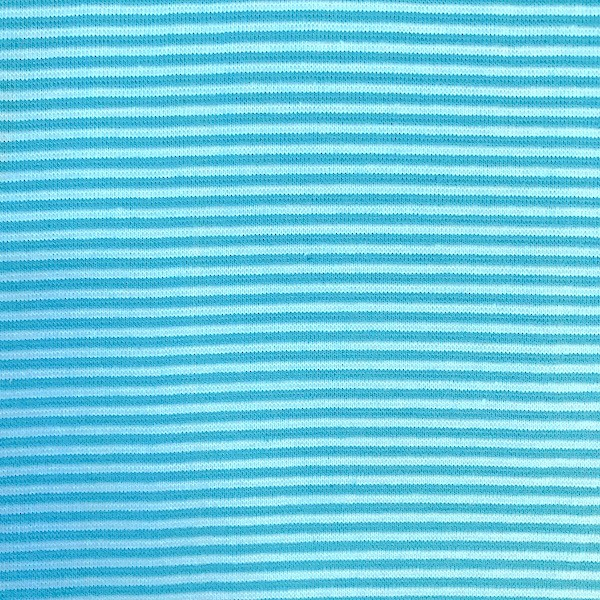Bündchen Mini-Stripes türkis